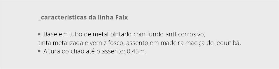 Características da coleção Falx