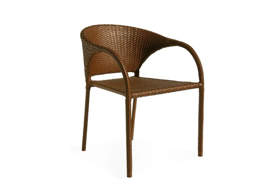Cadeira Cancun empilhável, em fibra e alumínio